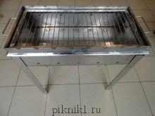 Мангал разборный 70*30*15 см из стали AISI 430 2,0 мм