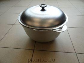 Казан алюминиевый литой (походный с крышкой)