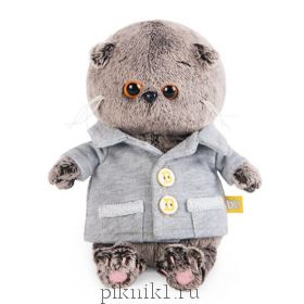 Котик Басик Беби в сером пиджачке