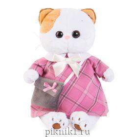 Кошечка Ли-Ли в розовом платье с серой сумочкой 24 см