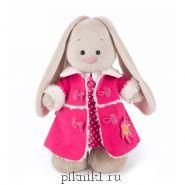 Зайка Ми в платье и розовой дубленке 32 см